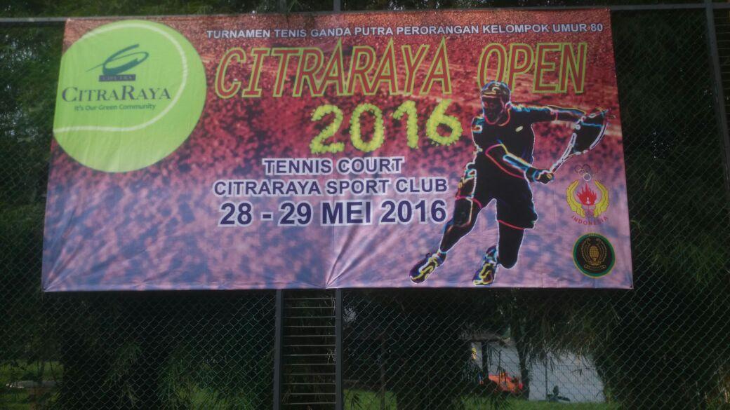 CitraRaya Tenis Open 2016 Perebutkan Hadiah Puluhan Juta Rupiah