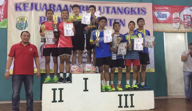 220 Peserta Unjuk Prestasi Dalam Kejuaraan Bulutangkis Provinsi Banten