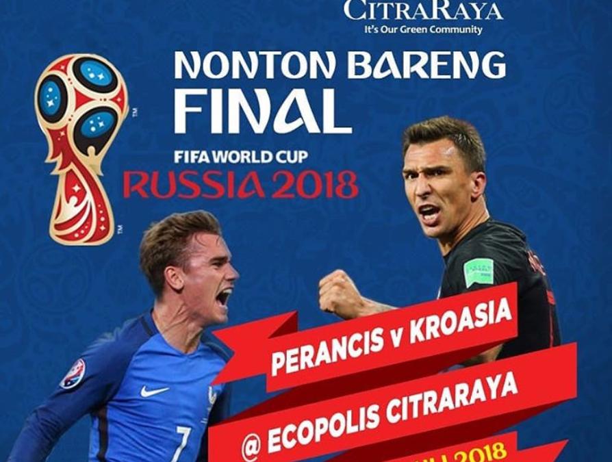 Semarak Nobar Piala Dunia Bersama CitraRaya