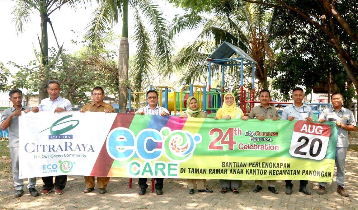 #EcoCare: CitraRaya Serahterimakan Wahana Bermain Taman Ramah Anak Panongan