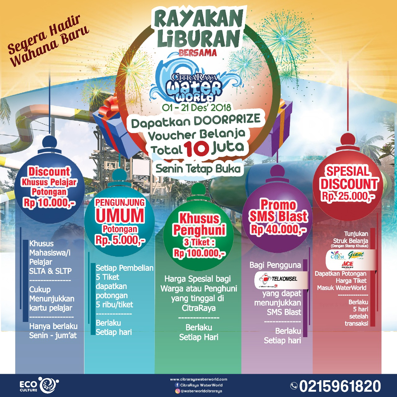 Promo awal tahun di CitraRaya Water World Water Park